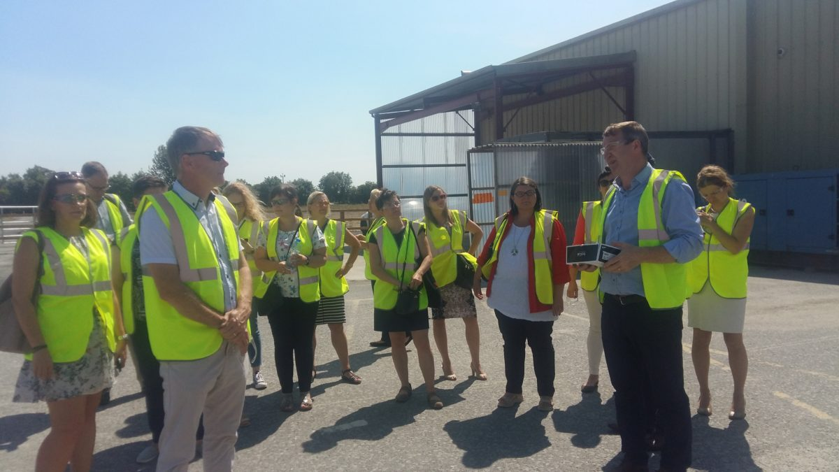Interreg Europe SUPER Project partners on a recent study visit to the Irish Bioeconomy Foundation and Agri-Chem Whey Project located in Lisheen, Co. Tipperary.
