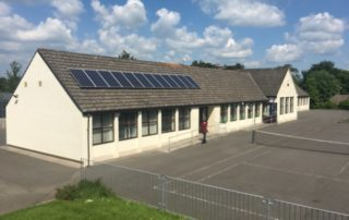 Youghalarra National School invested €84,800 in an energy makeover, including a heatpump, new windows, external wall insulation, ventilation system and photovoltaic panels.